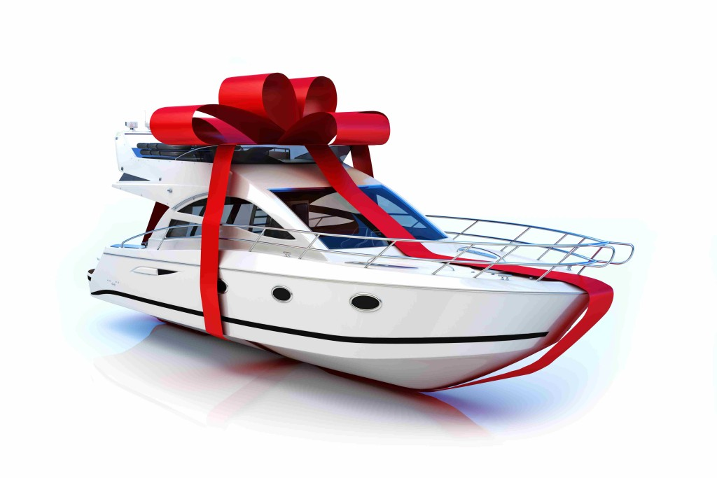 Gift of travel yacht